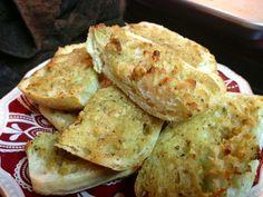 Easy Garlic Bread Mix using Johnny's Garlic Spread and Focaccia Bread!