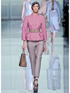 this pastel coulored peplum coat is from Dior Autumn Winter 2012 ready to wear collection