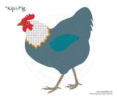 Hen chicken applique template - via @Craftsy
