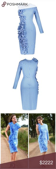 ‼️COMING SOON Blue Gingham Check Ruffle Dress ‼️ ‼️PLEASE LIKE THIS LISTING TO BE NOTIFIED WHEN THEY ARRIVE‼️‼️ Dresses