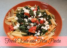 Fresh Kale and Feta Pasta - Family Food And Travel