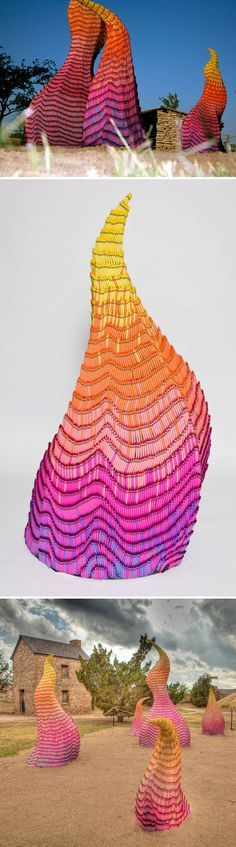 Crayon Installations by Herb Williams