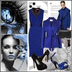 """""""Black & Blue"""" by pmcdl on Polyvore"""