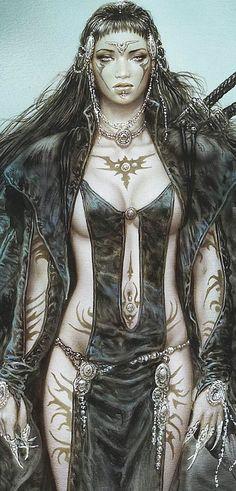 Luis royo (detail) fantasy art in 2019 sztuka cyfrowa, postaci fantasy, szt Anime Art Fantasy, Dark Fantasy Art, Fantasy Girl, Chica Fantasy, Fantasy Art Women, Fantasy Kunst, Fantasy Artwork, Boris Vallejo, Anime Warrior