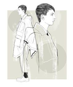 Men's fashion illustration-personal work