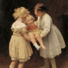 """""""Children Play"""" ~ by John Morgan (1822-1885), English Artist who trained in Paris ...."""