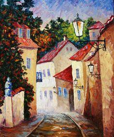 Cosy Street by Stanislav Sidorov (Compare to Tiny street by Yelena Sidorova!)