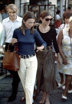 Jacqueline Onassis and Lee Radziwill in Capri, 1970