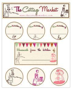 A Fun Collection of Retro Kitchen Labels...ENJJOY!