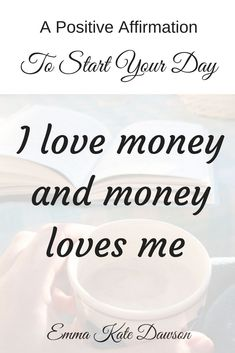Positive affirmation to help you create a abundance mindset and anchor the belief that money flows to you. Re-pin and click through to learn more about creating an abundance mindset