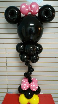 Minnie or Mickey Mouse Balloons Centerpiece