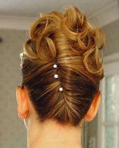 Schöne Frisur Dutt für die Hochzeit