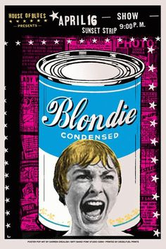 Blondie rock poster by darrengrealish on Etsy, $30.00