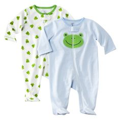 JUST ONE YOU Made by Carters ® Newborn Boys 2 Pack Frog Sleep N Play - Blue - $8.49