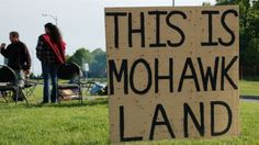 """More than a dozen people appeared in court Tuesday to challenge a Mohawk Council of Kahnawake law that prevents non-Indigenous people from living on the Mohawk territory south of Montreal.It's known as the """"marry out, stay out"""" law.These mixed-race. Mohawk People, Mohawk Indians, Canada 150, Fall From Grace, Canada Images, Historical Pictures, First Nations, Nativity, Marie"""