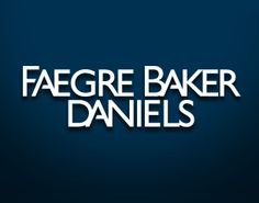 ...a human resources professional at Faegre Baker Daniels.