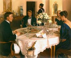 artist: Evan Wilson/When the wealthy gather for dinner, they discuss art. When artists gather for dinner, they discuss money... -Oscar Wilde