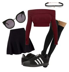 """""""Cool"""" by pyatt184 on Polyvore featuring Miss Selfridge, adidas, STELLA McCARTNEY and Carbon & Hyde"""