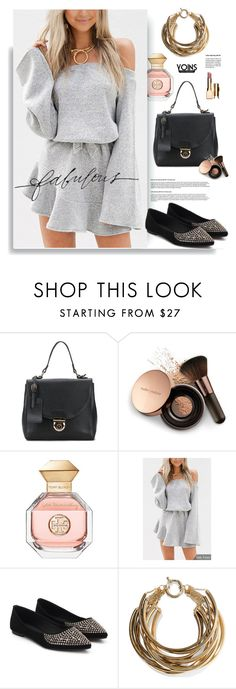"""Yoins.com: Fabulous"" by hamaly ❤ liked on Polyvore featuring Nude by Nature, Tory Burch, Rosantica, Clarins, Stella & Dot, yoins, yoinscollection and loveyoins"