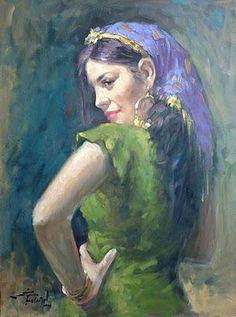 Egyptian beauty by Mahmud Fatih Middle Eastern Art, Egyptian Beauty, Arabian Art, Egypt Art, Painter Artist, Human Art, Woman Painting, Portrait Art, Love Art