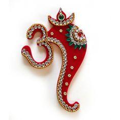 Red Acrylic Om Ganesha