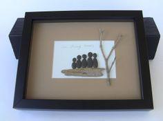Famille de 5  Pebble famille Art Photo  par PebbleCreationz sur Etsy, $89.00