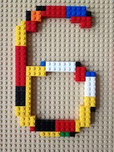 Vorlage zur #Einladung. Zahl aus Lego für die #Legoparty                                                                                                                                                                                 Mehr