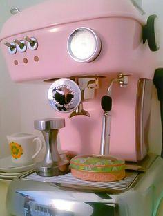 ascaso Espresso Machine, Retro Vintage, Coffee Maker, Tea, Mugs, Pink, Espresso Coffee Machine, Coffee Maker Machine, Coffee Percolator