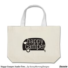 Happy Camper Jumbo Tote Bag