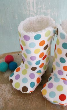 Baby Shoe Pattern - PDF  - Zipper Boots with Optional Leather Sole