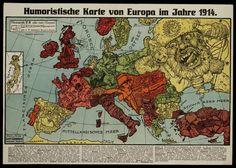12 Satirical Maps Of World War One |