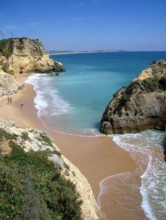 Best Beaches to Visit in Portugal >>> stunning! These top five beaches in Portugal are perfect whether you're looking for a beautiful view, a great tanning spot, or a place to get active in the water. Vacation Destinations, Dream Vacations, Vacation Spots, Spain And Portugal, Portugal Travel, Portugal Trip, Porto Portugal Beach, Portugal Destinations, Best Beaches In Portugal