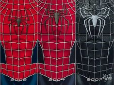 Spiderman Sam Raimi, Spiderman 2002, Spiderman Suits, Black Spiderman, Amazing Spiderman, Spider Man Trilogy, Iron Man Poster, Black Cat Marvel, Hq Marvel