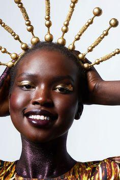 ajok madel by stef king makeup by carole mackie Makeup Inspo, Makeup Art, Makeup Inspiration, Jourdan Dunn, Fallen London, Purple Glitter, Glitter Makeup, Creative Makeup, Everyday Makeup