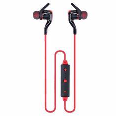 MPC Bluetooth 4.1 Stereo Wireless Sport Headset Earphone - Red