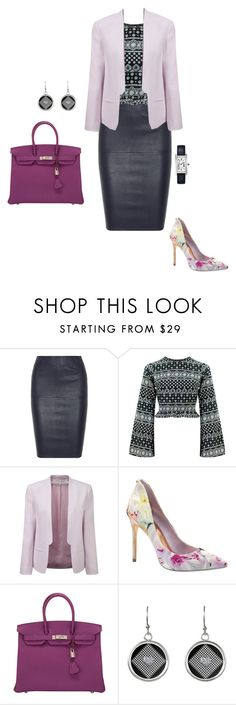 """""""#334"""" by snows22 ❤ liked on Polyvore featuring By Malene Birger, French Connection, Ted Baker, Hermès and Cartier"""