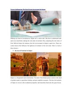 #Jaipur : Right Place For Long Term Investments - #RealEstateIndia