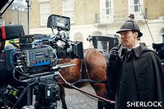 SHERLOCK (BBC) ~ Benedict Cumberbatch (Sherlock Holmes) on the set of the pre-Season 4 special SHERLOCK: THE ABOMINABLE BRIDE, which airs in the UK (BBC) and the US (PBS) on January 1, 2016.