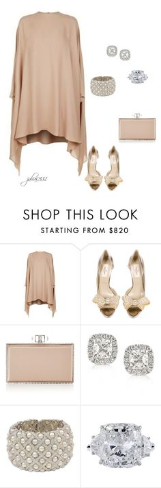 """""""Untitled #1274"""" by julia0331 ❤ liked on Polyvore featuring Valentino, Judith Leiber, Mark Broumand and Harry Winston"""