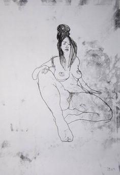 """Saatchi Art Artist Michael Lentz; Drawing, """"NUDE 4391"""" #art"""