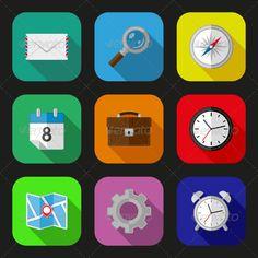 Flat icons set - Web Icons