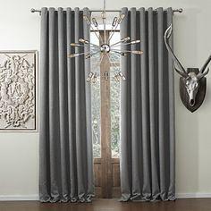 Solid Classic Faux Linen Room Darkening Curtain   #curtains #decor #homedecor #homeinterior #grey