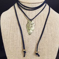 www.vashtijewelry.com #leather #arrowhead #jewelry