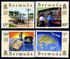 Bermuda Telephone Stamps Telephone, Postage Stamps, Father, Baseball Cards, Pai, Phone, Stamps, Dads