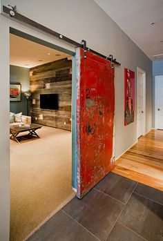 Love this rolling door concept - could solve a lot of space issues here at our home.
