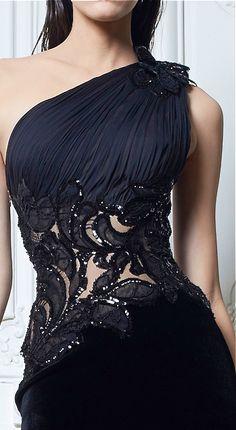 Zuhair Murad - Black Dress - jeito de marcar a cintura e aumentar o quadril                                                                                                                                                      Mais