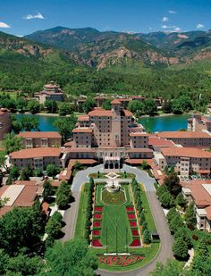 The Broadmoor, Colorado Springs, CO - great place to stay. My kids did the segway tour of the Garden of the Gods and also a combo jeep and whitewater rafting tour. They loved it and would recommend it! The Cheyene Mountain Zoo that is close by is good too. Deer are everywhere - laying under the windows at the hotel, munching on the foilage in the neighborhoods, etc.