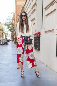 Pantaloni floreali culotte ed un look elegante da giorno!FLORAL CULOTTES AND AN ELEGANT DAYTIME LOOK!