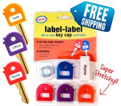 label label KEY CAP COVERS - Stretchy + 4 Pack BOLD - Labels/Key Tags/Key Chains