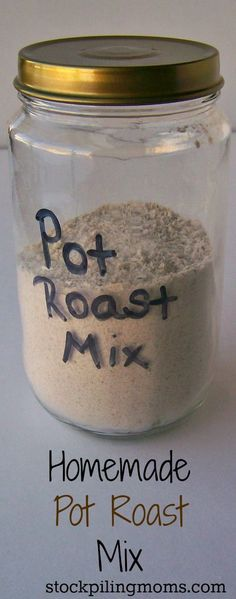 Pot Roast Mix Homemade Pot Roast Mix - We love this easy DIY - A great way to save money!Homemade Pot Roast Mix - We love this easy DIY - A great way to save money! Homemade Dry Mixes, Homemade Spices, Homemade Seasonings, Donut Party, Perfect Pot Roast, Do It Yourself Food, Spice Mixes, Spice Blends, Soup Mixes